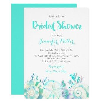 nautical beach bridal shower invitation