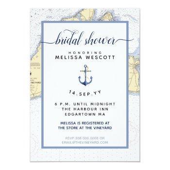 nautical bridal shower | martha's vineyard invitation