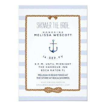 nautical shower the bride infinity knot blue invitation