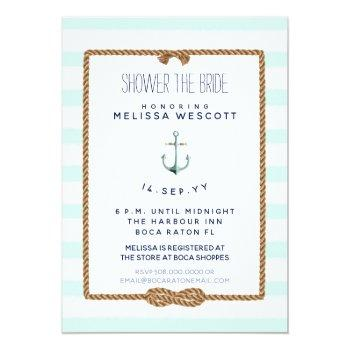 nautical shower the bride infinity knot sea foam invitation
