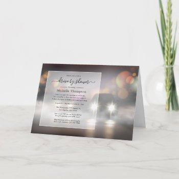 night time drive by shower invitation