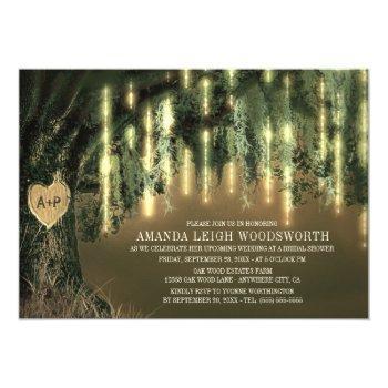 oak tree spanish moss bridal shower invitations