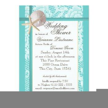 ocean theme wedding shower invitation