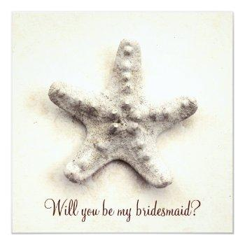 ocean whisper - starfish bridesmaid invitation