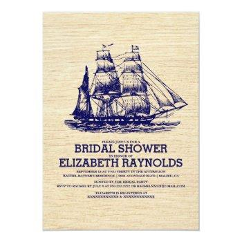 old boat bridal shower invitations