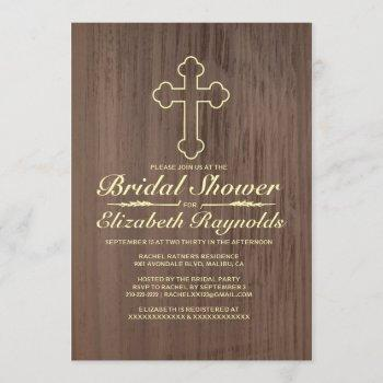 old iron cross bridal shower invitations