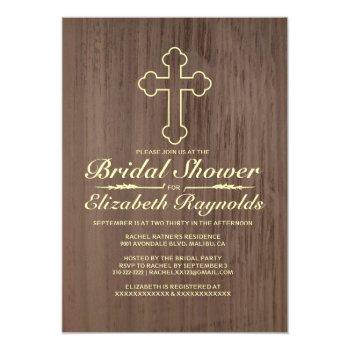 old iron cross bridal shower invitations