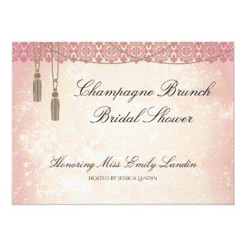 once upon a time champagne brunch bridal shower invitation