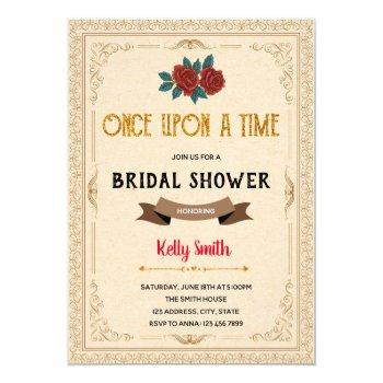 once upon a time shower invitation