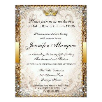 ornate fairytale storybook bridal shower invitatio invitation