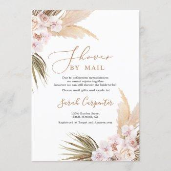 pampas grass shower by mail bridal shower invitation