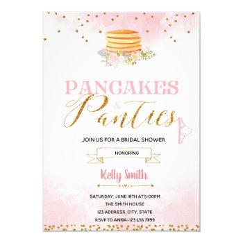 pancakes and panties lingerie invitation