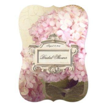 parisian vintage hydrangea manor bridal shower invitation