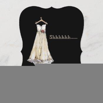 pastel chalk wedding dress bridal shower surprise invitation