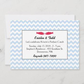 perfect catch bridal shower invites