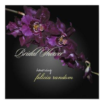 pixdezines dark purple orchids/vuylstekeara invitation