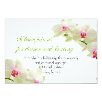 pixdezines pink maui orchids/reception cards
