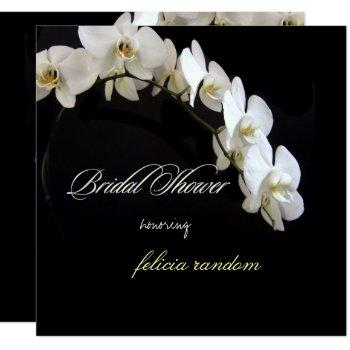pixdezines white orchids bridal shower invitation