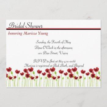 poppy bridal shower invitation