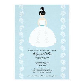 pretty asian bride bridal shower invitations