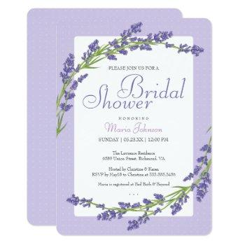 pretty in purple | bridal shower invitation