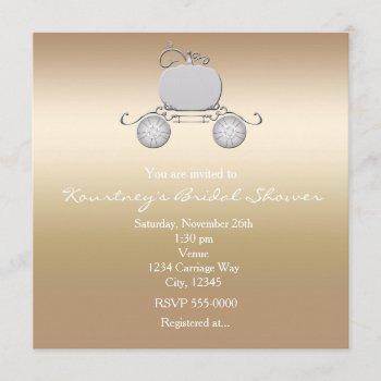 princess cinderella carriage champange invitation