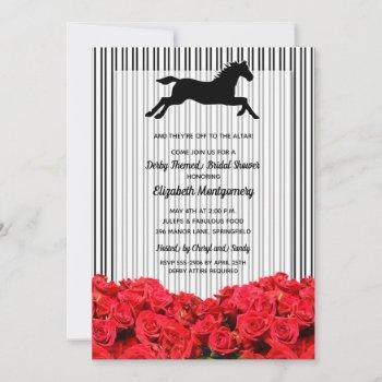race horse roses derby bridal shower
