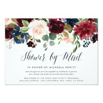 Small Radiant Bloom Baby Or Bridal Shower By Mail Invitation Front View