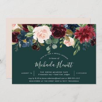radiant bloom | watercolor floral bridal shower invitation