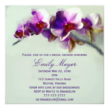 radiant orchid painting bridal shower invitation