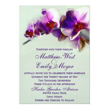 radiant orchid painting wedding invitation