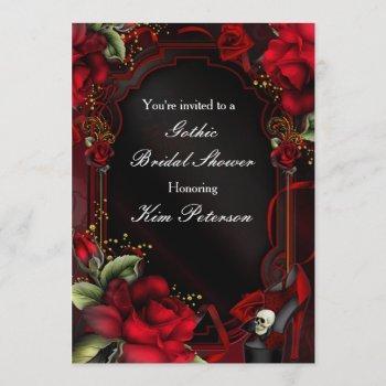 red roses gothic glam elegant party invitation
