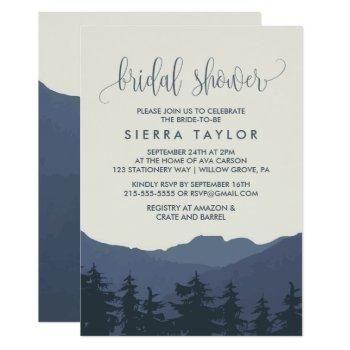 retreat to the mountains bridal shower invitation