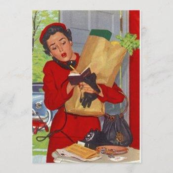 retro grocery shopping pantry party stock kitchen invitation