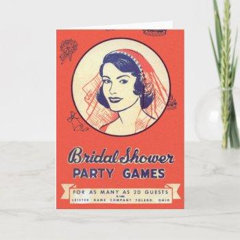 retro vintage kitsch bridal shower party games invitation