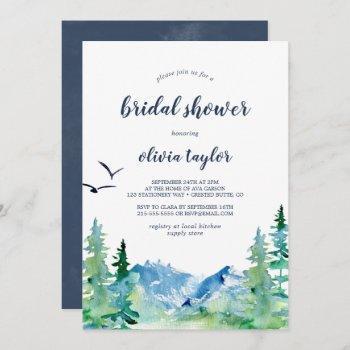 rocky mountain bridal shower invitation