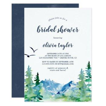 rocky mountain bridal shower invitation