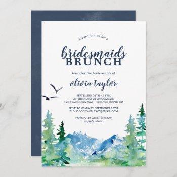 rocky mountain bridesmaids brunch invitation