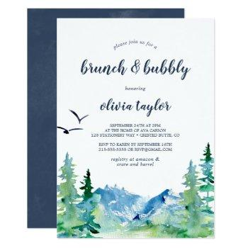 rocky mountain brunch and bubbly invitation