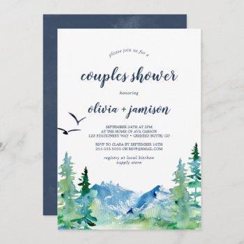 rocky mountain couples shower invitation