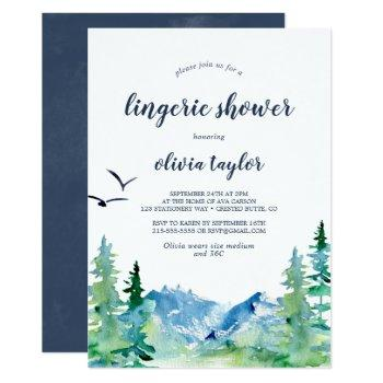 rocky mountain lingerie shower invitation