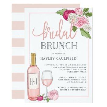 rosé garden | bridal brunch invitation