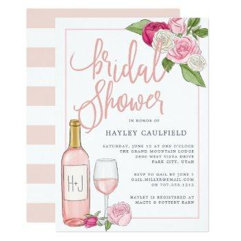rosé garden | bridal shower invitation