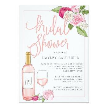 Rosé Garden | Bridal Shower Invitation Front View