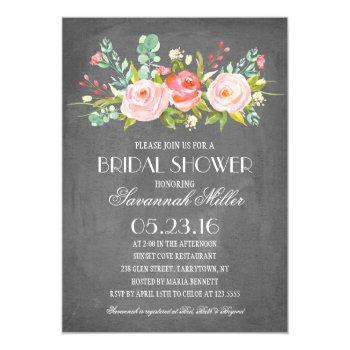 rose garden chalkboard | bridal shower invitation