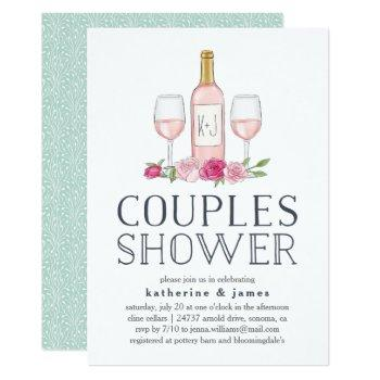 rosé garden | couples shower invitation