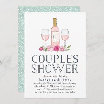 rosé garden | couples shower invitation