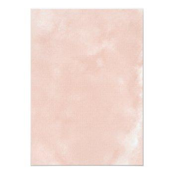 Rose Gold Dress Blush White Rustic Bridal Shower Invitation Front View