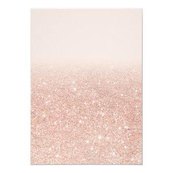 Small Rose Gold Glitter Dress Bridal Shower By Mail Invitation Back View