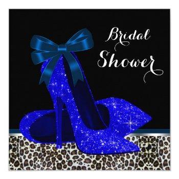 royal blue bridal shower invitation